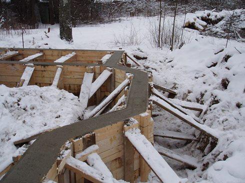 Как бетонировать зимой