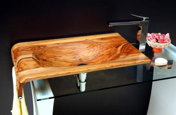 Раковина из дерева, как сделать своими руками